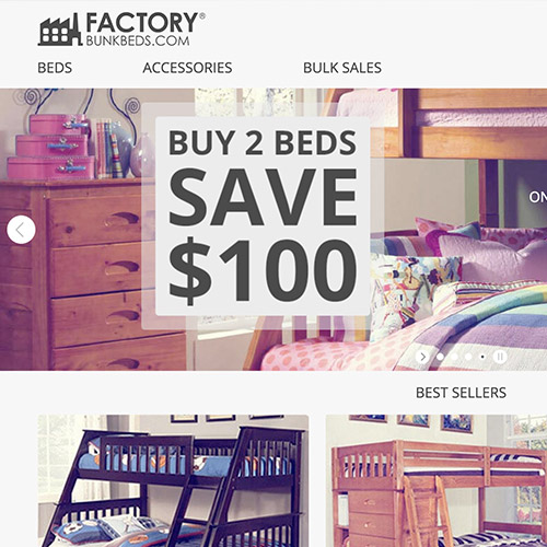 Factory EStores Website Redesign
